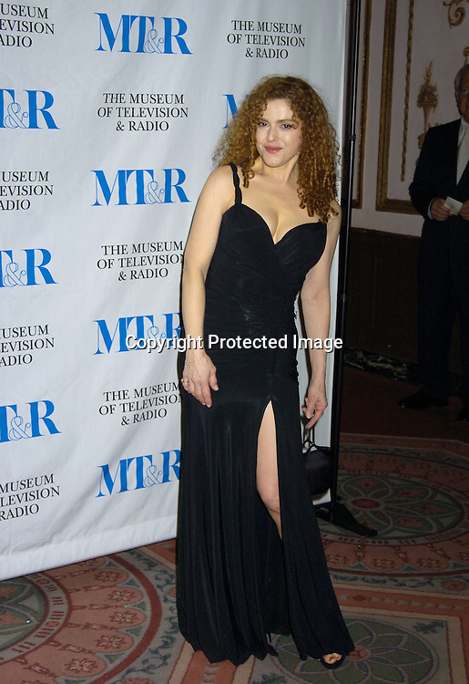 Bernadette Peters ..at The Museum of TV and Radio New York Gala  honoring  Merv Griffin on May 26, 2005 at The Waldorf Astoria Hotel...Photo by Robin Platzer, Twin Images