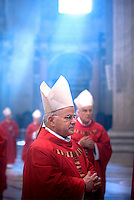 Cardinal José Saraiva Martins,Pope Benedict XVI during a Mass  for cardinals and bishops deceased over the year, inside St. Peter's  Basilica,  at the Vatican.Nov. 3, 2008.         .