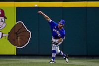 Connor McKay (7) of the Kansas Jayhawks during a game against the Missouri State Bears at Hammons Field on March 27, 2012 in Springfield, Missouri. (David Welker/Four Seam Images)