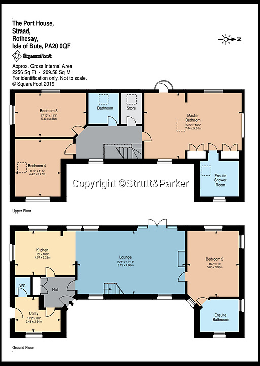 BNPS.co.uk (01202 558833)<br /> Pic:  Strutt&Parker/BNPS<br /> <br /> Floor plan of the Port House on the island.<br /> <br /> A stunning Scottish island has emerged for sale for just £1.4million - the cost of a London terraced home.<br /> <br /> Inchmarnock, at the northern end of the Sound of Bute in the Firth of Clyde, is 2.5 miles long, half a mile wide and has 4.75miles of coastline.<br /> <br /> The 660 acre island has a fascinating history, having been a target of Viking raids and used as a D-Day training ground - with bomb craters still visible in its landscape.<br /> <br /> A farmer even discovered the remains of a local Bronze Age woman, the Queen of the Inch, on the island in the 1960s. She lay in a stone cist wearing a black lignite necklace and carrying a flint dagger.