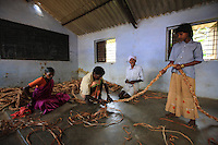 Thaladassadatti village. Then Mari with his wife, granddaughter and nephew in the village community center, make a rope ladder that will be used for honey hunting. This is a lengthy process, and the ladder could last four or five years but they are often left at the harvest site as they are difficult to carry because of their heavy weight.