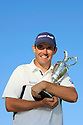 Padraig Harrington (IRE) holds the claret jug trophy after the final round of the 137th Open Championship played at Royal Birkdale Golf Club on July 20th, 2008 in Southport, Lancashire. ( Picture Credit:  Phil Inglis ).... ......