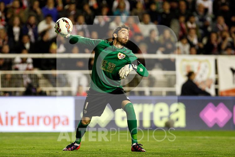 Cobeno of Rayo Vallecano during La Liga match between Rayo Vallecano and Real Madrid at Vallecas Stadium in Madrid, Spain. April 08, 2015. (ALTERPHOTOS/Caro Marin)