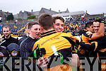 Darragh O'Brien and Fearghal McNamara Austin Stacks players celebrate winning the Kerry Senior County Football Final at Fitzgerald Stadium on Sunday.