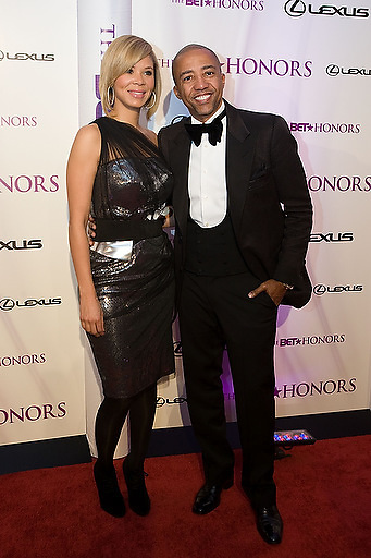 Slug: 2011 BET Honors.Date: 01-16-2011.Photographer: Mark Finkenstaedt.Location:  Wagner Theater, Washington DC.Caption:  2010 BET Honors - Wagner Theater Washington DC.Kevin Liles and wife Erika