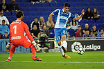 League Santander 2017-2018 - Game: 4.<br /> RCD Espanyol vs Celta: 2-1.<br /> Sergio Alvarez vs Gerard Moreno.