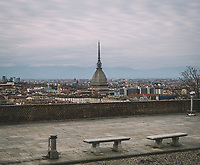 Torino, 15/03/2020<br /> General view of Turin from Monte dei Cappuccini during the Italy Continues Nationwide Lockdown to control Coronavirus spread . <br /> Photo: Federico Tardito / 1+9 images / Insidefoto