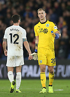 Burnley's Joe Hart and Robbie Brady at the end of the game<br /> <br /> Photographer Rob Newell/CameraSport<br /> <br /> The Premier League - Saturday 1st December 2018 - Crystal Palace v Burnley - Selhurst Park - London<br /> <br /> World Copyright &copy; 2018 CameraSport. All rights reserved. 43 Linden Ave. Countesthorpe. Leicester. England. LE8 5PG - Tel: +44 (0) 116 277 4147 - admin@camerasport.com - www.camerasport.com