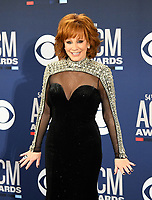 LAS VEGAS, NEVADA - APRIL 07: Reba McEntire poses in the press room during the 54th Academy Of Country Music Awards at MGM Grand Hotel &amp; Casino on April 07, 2019 in Las Vegas, Nevada. <br /> CAP/MPIIS<br /> &copy;MPIIS/Capital Pictures