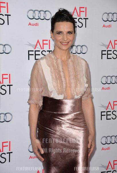 Actress Juliette Binoche at the premiere of her movie &quot;The 33&quot;, part of the AFI FEST 2015, at the TCL Chinese Theatre, Hollywood. <br /> November 9, 2015  Los Angeles, CA<br /> Picture: Paul Smith / Featureflash