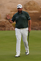 Shane Lowry (IRL) on the 13th during Round 2 of the Saudi International at the Royal Greens Golf and Country Club, King Abdullah Economic City, Saudi Arabia. 31/01/2020<br /> Picture: Golffile | Thos Caffrey<br /> <br /> <br /> All photo usage must carry mandatory copyright credit (© Golffile | Thos Caffrey)