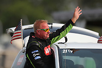 Aug 18, 2018; Brainerd, MN, USA; NHRA top fuel driver Terry McMillen during qualifying for the Lucas Oil Nationals at Brainerd International Raceway. Mandatory Credit: Mark J. Rebilas-USA TODAY Sports