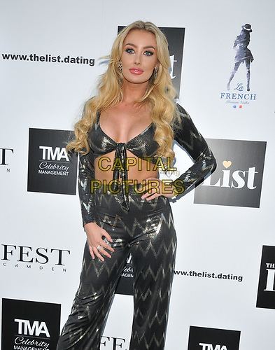 Chloe Crowhurst at The List Celebrity Mixer dating app party, FEST Camden, Chalk Farm Road, London, England, UK, on Wednesday 03rd July 2019.<br /> CAP/CAN<br /> ©CAN/Capital Pictures