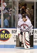 Mike Binnington (NU - 30) - The Northeastern University Huskies defeated the Bentley University Falcons 3-2 on Friday, October 16, 2009, at Matthews Arena in Boston, Massachusetts.