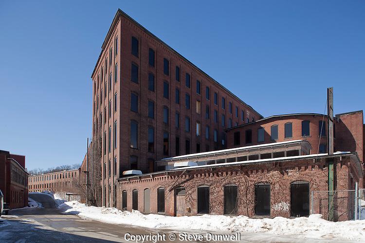 mill complex, winter, Clinton, MA