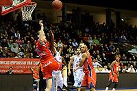 GRONINGEN -  Basketbal, Donar - New Heroes Den Bosch, Martiniplaza, Dutch Basketbal League, seizoen 2018-2019,  26-01-2019, rebound van Den Bosch speler Roel Aarts