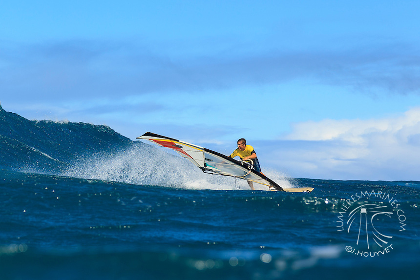 Francisco Goya at the 6th and final stop of the 2012 American Windsurfing Tour (AWT), in Ho'okipa Beach Park (Maui, Hawaii, USA)