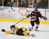 ?, Joe Whitney (BC - 15) - The Merrimack College Warriors defeated the Boston College Eagles 5-3 on Sunday, November 1, 2009, at Lawler Arena in North Andover, Massachusetts splitting the weekend series.