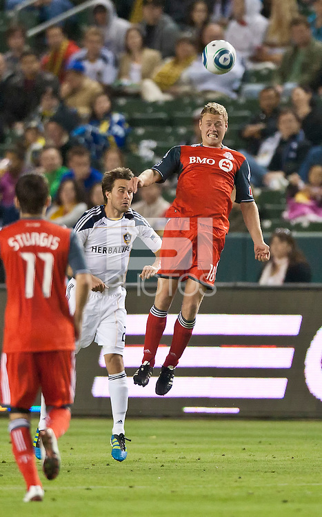 CARSON, CA – June 11, 2011: Toronto FC forward Nick Soolsma (18)  during the match between LA Galaxy and Toronto FC at the Home Depot Center in Carson, California. Final score LA Galaxy 2, Toronto FC 2.