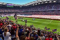 Harrison, New Jersey - Sunday May 26, 2019: The women's national teams of the United States (USA) and Mexico (MEX) play in an international friendly match at Red Bull Arena.