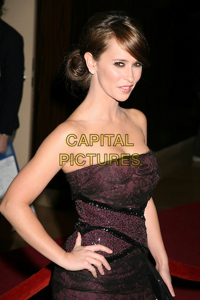 JENNIFER LOVE HEWITT.The 8th Annual Family Television Awards at the Beverly Hilton Hotel, Beverly Hills, California, USA..November 29th, 2006.half length strapless purple black lace dress hand on hip.CAP/ADM/BP.©Byron Purvis/AdMedia/Capital Pictures