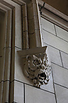 Gothic architectural detail inside Cobb Gate at the University of Chicago campus, Chicago, Illinois, IL, USA
