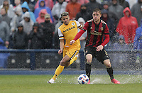 Nashville, TENN. - Saturday February 10, 2018: Nashville SC vs Atlanta United FC during a preseason exhibition match between Nashville SC vs Atlanta United FC at First Tennessee Park.