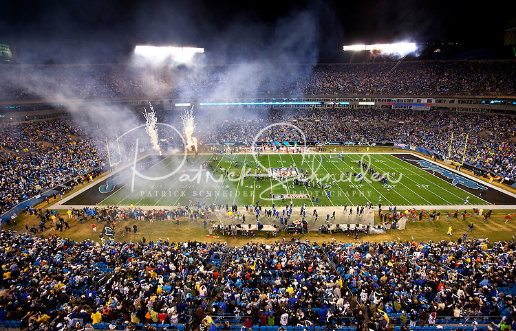 Overall view of the stadium during the NFC Divisional Playoff football game at Bank of America Stadium, in Charlotte, NC. Arizona defeated the Carolina Panthers 33-13.