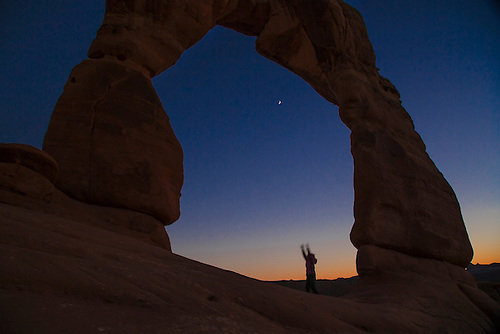 Sunset at Delicate Arch at Arches National Park, Utah