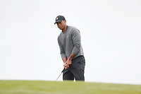 Tiger Woods (USA) putts on the first hole during the second round of the 118th U.S. Open Championship at Shinnecock Hills Golf Club in Southampton, NY, USA. 15th June 2018.<br /> Picture: Golffile | Brian Spurlock<br /> <br /> <br /> All photo usage must carry mandatory copyright credit (&copy; Golffile | Brian Spurlock)