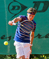 August 4, 2014, Netherlands, Dordrecht, TC Dash 35, Tennis, National Junior Championships, NJK,  Karol van der Linden (NED)<br /> Photo: Tennisimages/Henk Koster