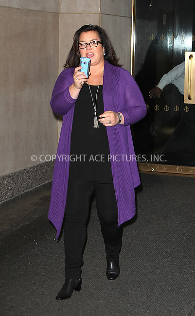 WWW.ACEPIXS.COM . . . . .  ....April 24 2012, New York City....TV personality Rosie O'Donnell leaves the Today Show on April 24 2012 in New York City....Please byline: Zelig Shaul - ACE PICTURES.... *** ***..Ace Pictures, Inc:  ..Philip Vaughan (212) 243-8787 or (646) 769 0430..e-mail: info@acepixs.com..web: http://www.acepixs.com