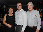Shane Eveeritt celebrating his birthday in Brú with parents Joe and Christine. Photo:Colin Bell/pressphotos.ie