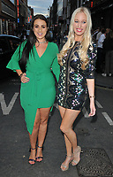 Amel Rachedi and Hayley Palmer at the Macmillan Charity Gala Night, Pizza Express, Dean Street, London, England, UK, on Wednesday 08 August 2018.<br /> CAP/CAN<br /> &copy;CAN/Capital Pictures