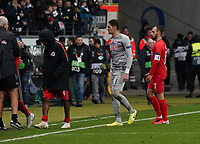 Frust bei RB Leipzig - 20.02.2020: Eintracht Frankfurt vs. RB Salzburg, UEFA Europa League, Hinspiel Round of 32, Commerzbank Arena DISCLAIMER: DFL regulations prohibit any use of photographs as image sequences and/or quasi-video.