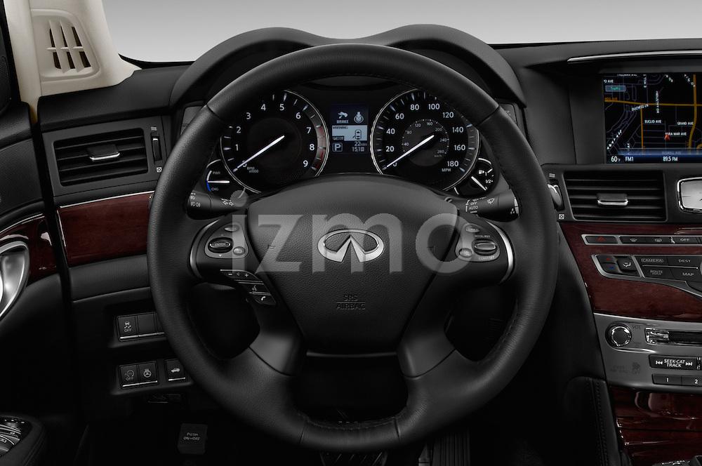 Car pictures of steering wheel view of a 2016 Infiniti Q70 Hybrid 4 Door Sedan Steering Wheel