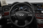 Car pictures of steering wheel view of a 2018 Infiniti Q70 Hybrid 4 Door Sedan Steering Wheel