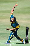 Ferisco Adams of South Africa bowls during Day 2 of Hong Kong Cricket World Sixes 2017  match between South Africa vs Sri Lanka at Kowloon Cricket Club on 29 October 2017, in Hong Kong, China. Photo by Vivek Prakash / Power Sport Images