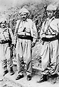 Iraq 1968 <br /> Peshmergas, from right to left, Ahmed Bag Sadek, Mirkhan Mohamedamin and Nosrat Hussein in Galala <br /> Irak 1968 <br /> Des peshmergas de droire a gauche, Ahmed Bag Sadek, Mirkhan Mohamedamin et Nosrat Hussein a Galala