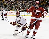 Steven Whitney (BC - 21), David Valek (Harvard - 22) - The Boston College Eagles defeated the Harvard University Crimson 6-0 on Monday, February 1, 2010, in the first round of the 2010 Beanpot at the TD Garden in Boston, Massachusetts.