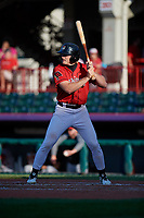 Erie SeaWolves Cam Gibson (14) at bat during an Eastern League game against the Richmond Flying Squirrels on August 28, 2019 at UPMC Park in Erie, Pennsylvania.  Richmond defeated Erie 6-4 in the first game of a doubleheader.  (Mike Janes/Four Seam Images)