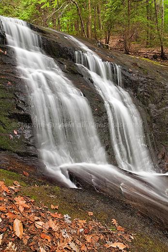 A lower section of Chapelbrook Falls in  Ashfield, Massachusetts.