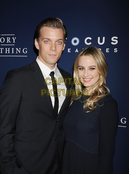 BEVERLY HILLS, CA- OCTOBER 28: Actor Jake Abel (L) and Allie Wood arrive at the Los Angeles premiere of 'The Theory Of Everything' at the AMPAS Samuel Goldwyn Theater on October 28, 2014 in Beverly Hills, California.<br /> CAP/ROT/TM<br /> &copy;Tony Michaels/Roth Stock/Capital Pictures