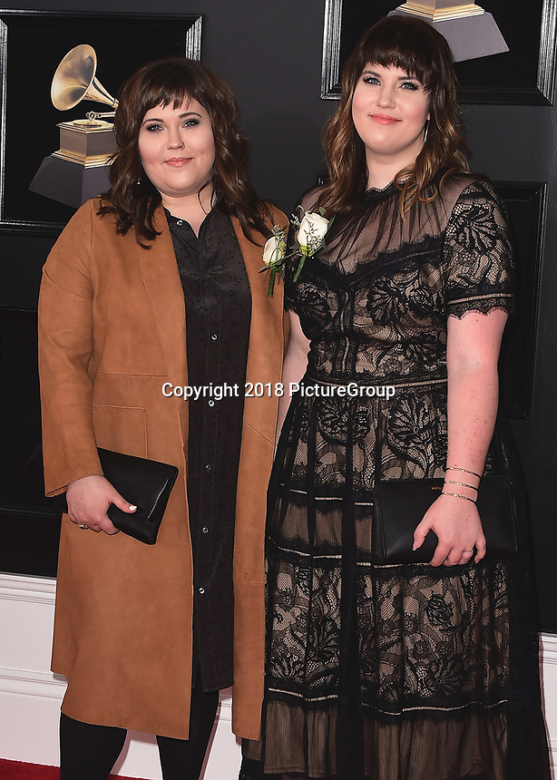 NEW YORK - JANUARY 28:  The Secret Sisters at the 60th Annual Grammy Awards at Madison Square Garden on January 28, 2018 in New York City. (Photo by Scott Kirkland/PictureGroup)