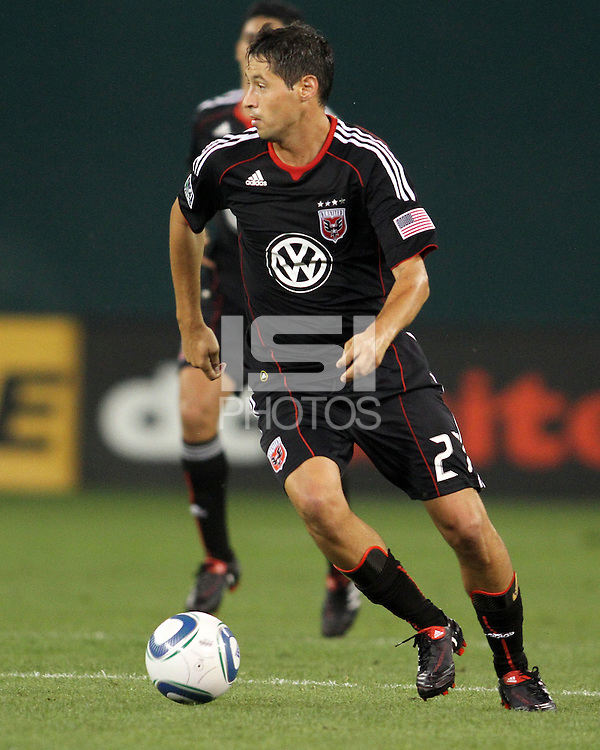 Branko Boskovic #27 of D.C. United during an MLS match against Seattle Sounders FC at RFK Stadium on July 15 2010, in Washington DC.Seattle won 1-0.