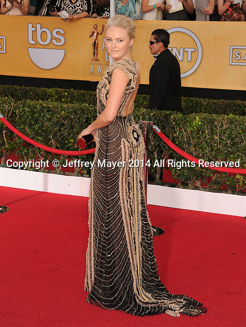 LOS ANGELES, CA- JANUARY 18: Actress Malin Akerman arrives at the 20th Annual Screen Actors Guild Awards at The Shrine Auditorium on January 18, 2014 in Los Angeles, California.
