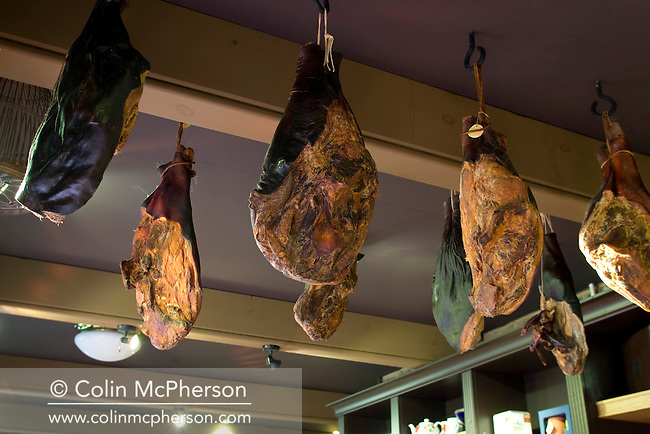 An interior view of the shop at the Cheshire Smokehouse in Wilmslow, Cheshire, which has been included in the newly-established Cheshire Food Trails.