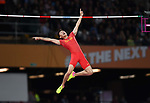 Changrui XUE (CHN) celebrates during the mens pole vault final. IAAF world athletics championships. London Olympic stadium. Queen Elizabeth Olympic park. Stratford. London. UK. 08/08/2017. ~ MANDATORY CREDIT Garry Bowden/SIPPA - NO UNAUTHORISED USE - +44 7837 394578