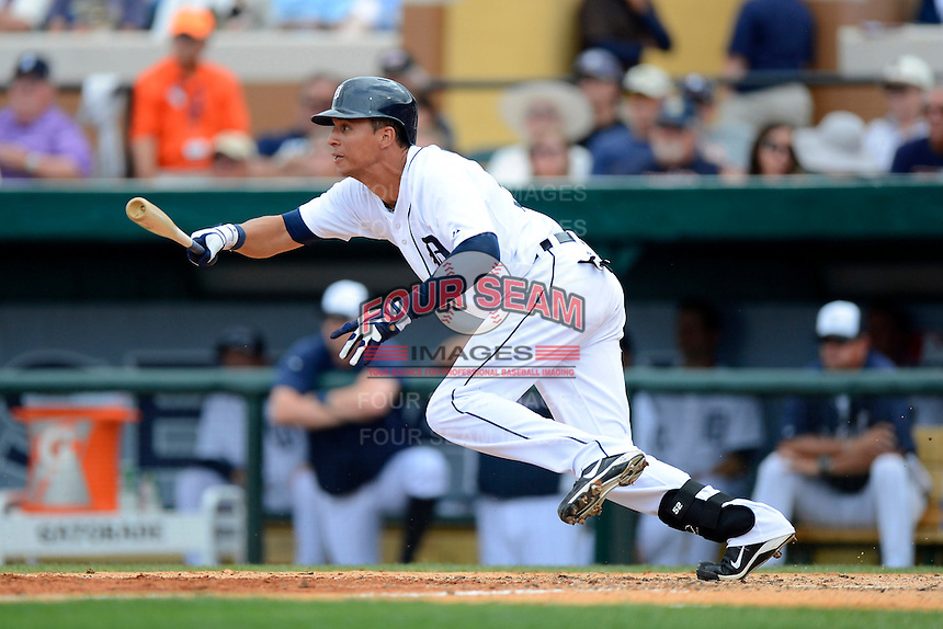 Detroit Tigers outfielder Quintin Berry #52 during a Spring Training game against the New York Mets at Joker Marchant Stadium on March 11, 2013 in Lakeland, Florida.  New York defeated Detroit 11-0.  (Mike Janes/Four Seam Images)
