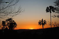 Sunset as seen from Keck Theater, Jan. 30, 2009 (Photo by Marc Campos, Occidental College Photographer)